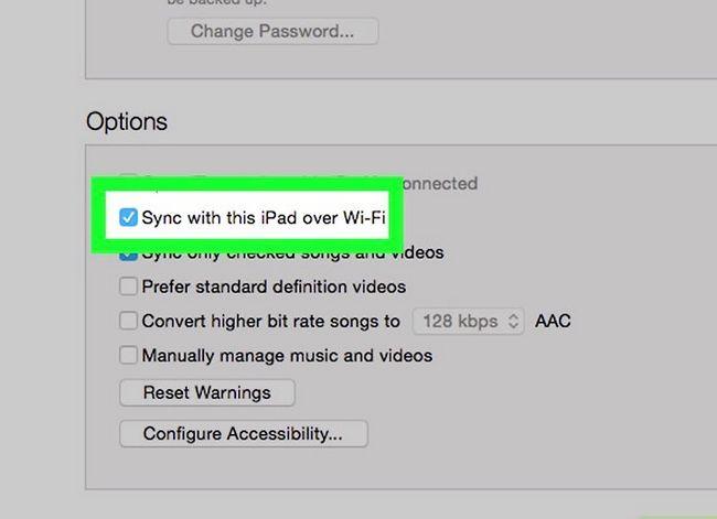 Prent getiteld Sluit `n iPad aan op iTunes Stap 16