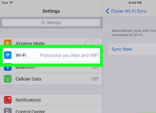 Prent getiteld Sluit `n iPad aan op iTunes Stap 10