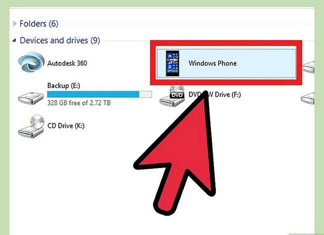 Prent getiteld Sluit Lumia 820 na PC Stap 5