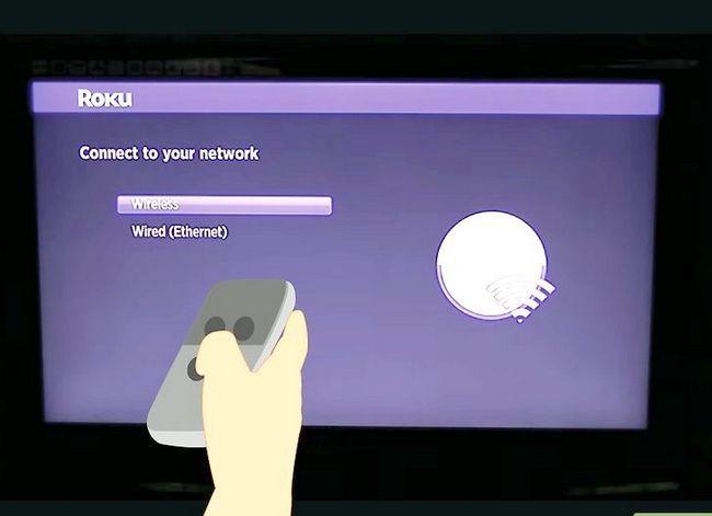 Prent getiteld Sluit Roku aan op TV Stap 24