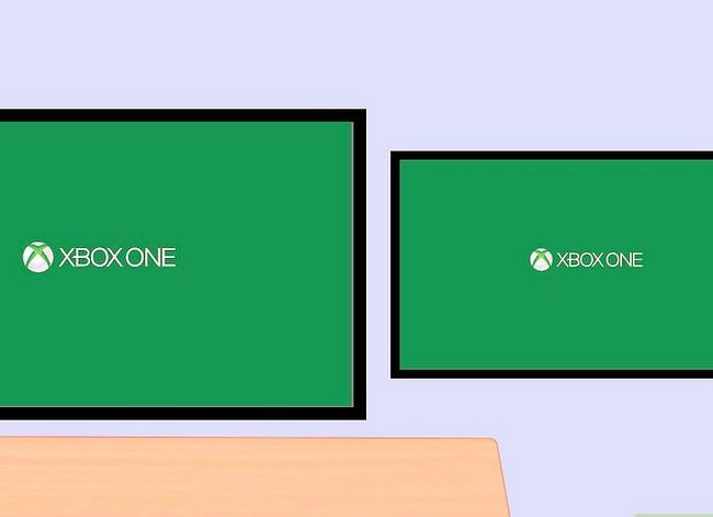Prent getiteld Sluit twee TV`s aan op Xbox Stap 17