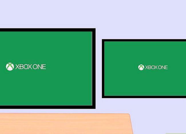 Prent getiteld Sluit twee TV`s aan op Xbox Stap 6