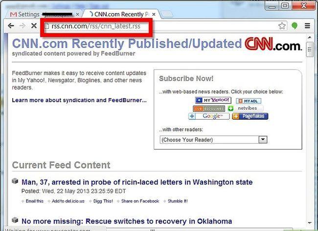 Prent getiteld Webknipsels instel vir `n Gmail-rekening Stap 5