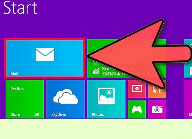 Prent getiteld Stel e-pos op Windows 8 Stap 1