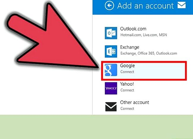 Prent getiteld E-pos instel op Windows 8 Stap 6