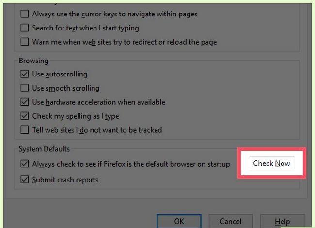 Prent getiteld Stel Mozilla Firefox as jou verstek blaaier Stap 20