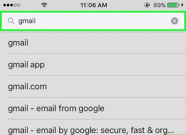 Prent getiteld Stel Gmail op `n iPhone Stap 13 op
