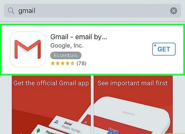 Prent getiteld Stel Gmail op `n iPhone Stap 14 op