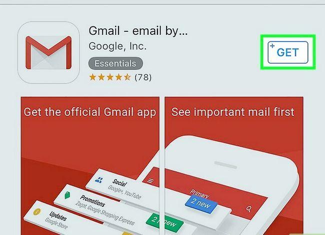 Prent getiteld Stel Gmail op `n iPhone Stap 15 op