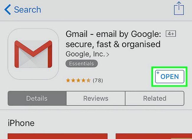 Prent getiteld Stel Gmail op `n iPhone Stap 16 op