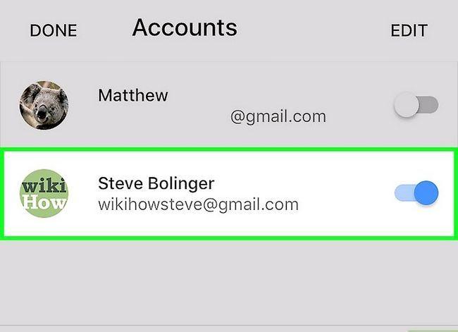 Prent getiteld Stel Gmail op `n iPhone Stap 19 op