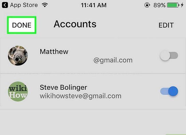 Prent getiteld Stel Gmail op `n iPhone Stap 20 op