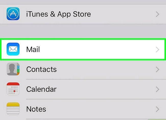 Prent getiteld Stel Gmail op `n iPhone Stap 2 op