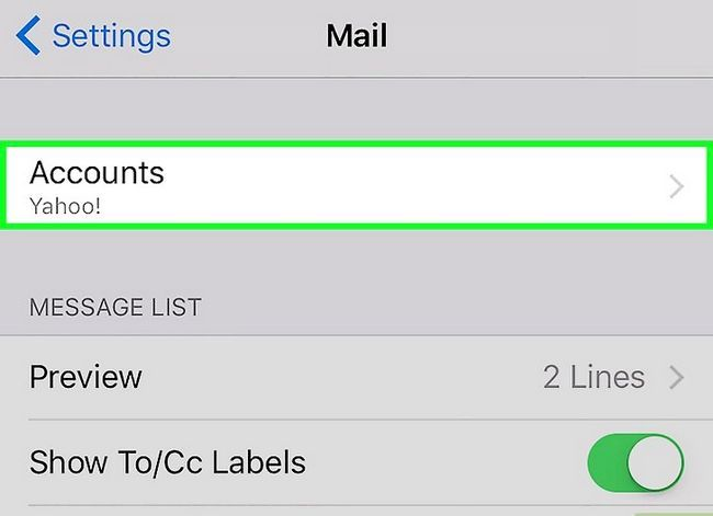 Prent getiteld Stel Gmail op `n iPhone Stap 3 op