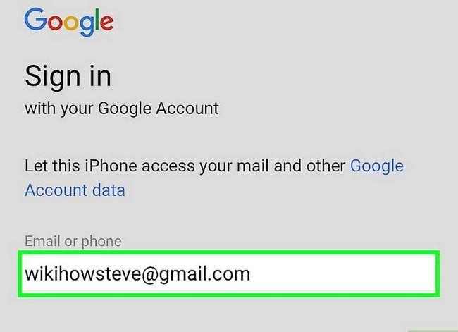Prent getiteld Stel Gmail op `n iPhone Stap 6 op