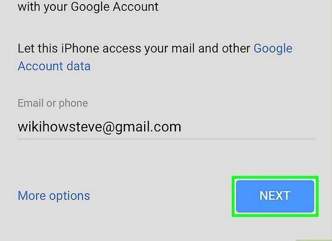 Prent getiteld Stel Gmail op `n iPhone Stap 7 op