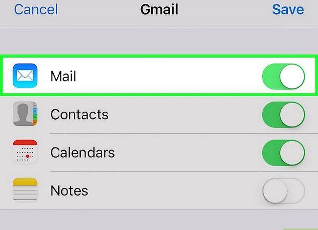 Prent getiteld Stel Gmail op `n iPhone Stap 10 op