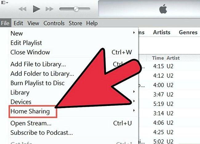Prent getiteld Tuisblad deel in iTunes Stap 1