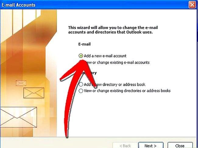 Beeld getiteld Stel Microsoft Outlook Step 2 op