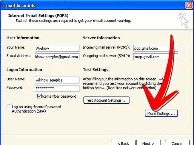 Prent getiteld Stel Microsoft Outlook Stap 5 op