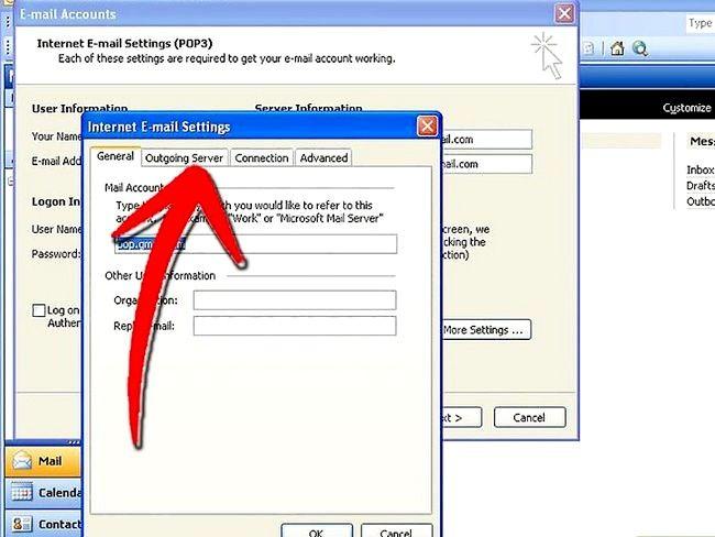 Prent getiteld Stel Microsoft Outlook Stap 6 op