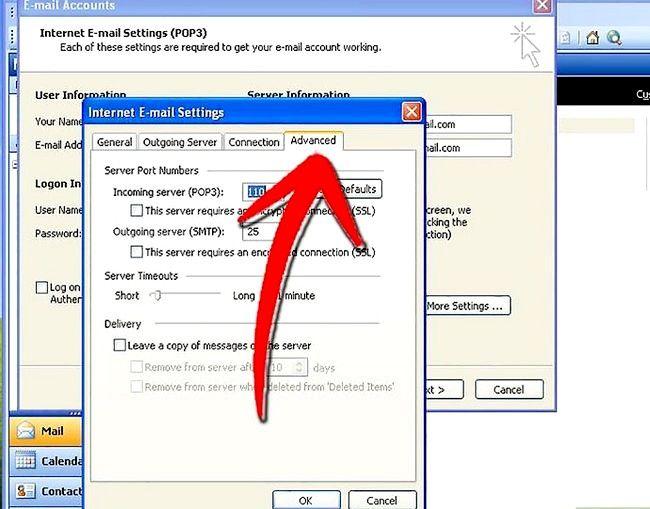 Prent getiteld Stel Microsoft Outlook Stap 8 op
