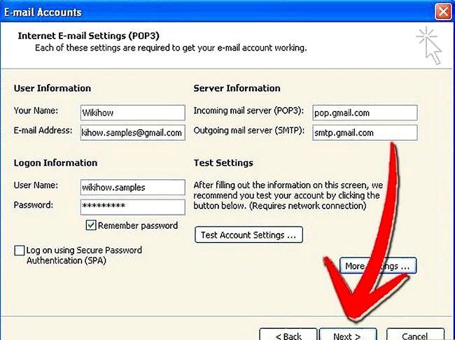 Prent getiteld Stel Microsoft Outlook Stap 10 op