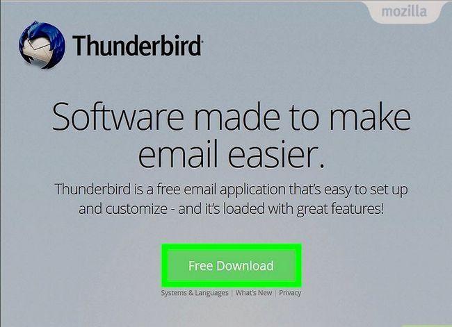 Prent getiteld Stel Mozilla Thunderbird Stap 1 op