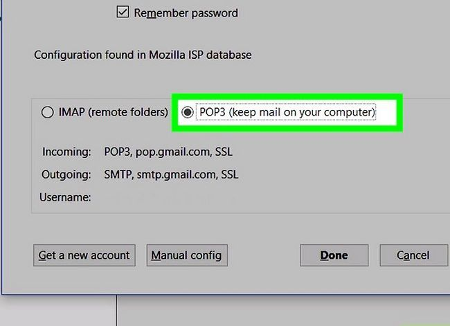 Prent getiteld Mozilla Thunderbird Stap 6 instel