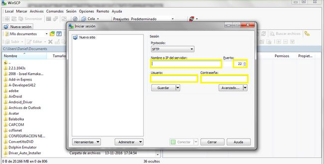 Prent getiteld Konfigurasie WINSCP.jpg