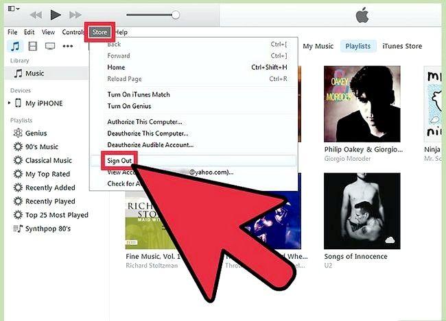 Beeld getiteld `n aparte iTunes-rekening instel Stap 4