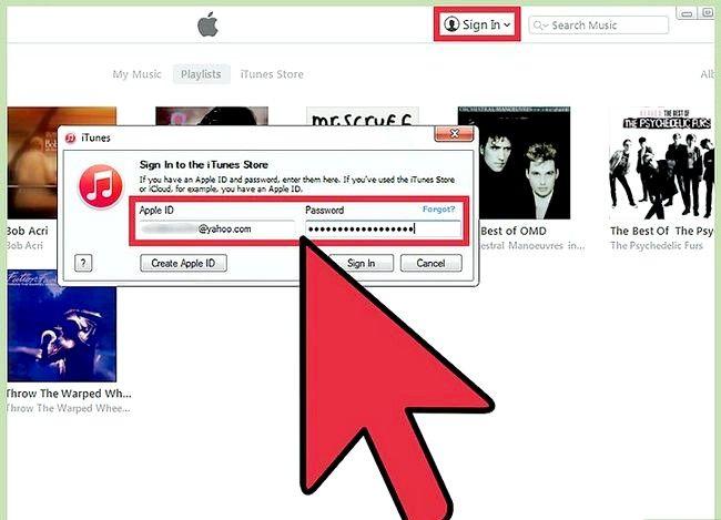 Prent getiteld `n aparte iTunes-rekening instel Stap 5