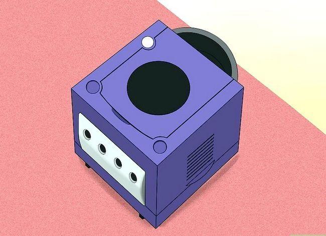 Prent getiteld Stel `n Nintendo Gamecube Stap 2 op
