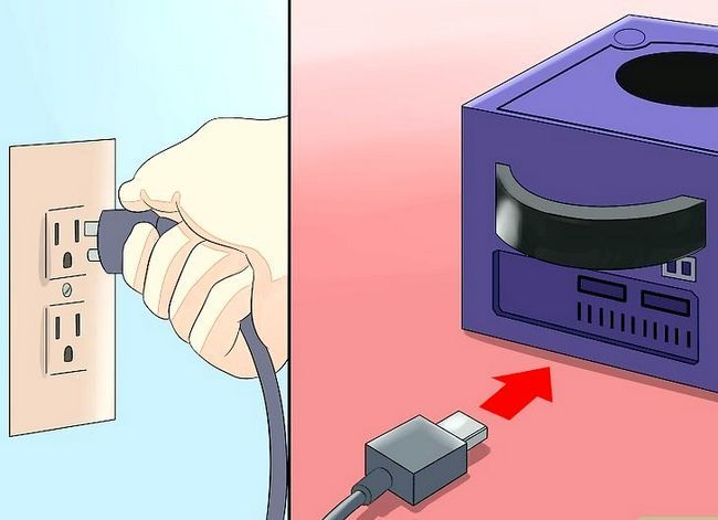 Prent getiteld Stel `n Nintendo Gamecube Stap 3 op