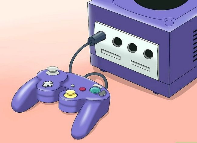 Prent getiteld Stel `n Nintendo Gamecube Stap 7 op