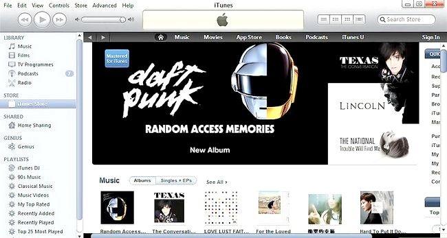 Prent getiteld Kry Gratis Dinge op iTunes Stap 2