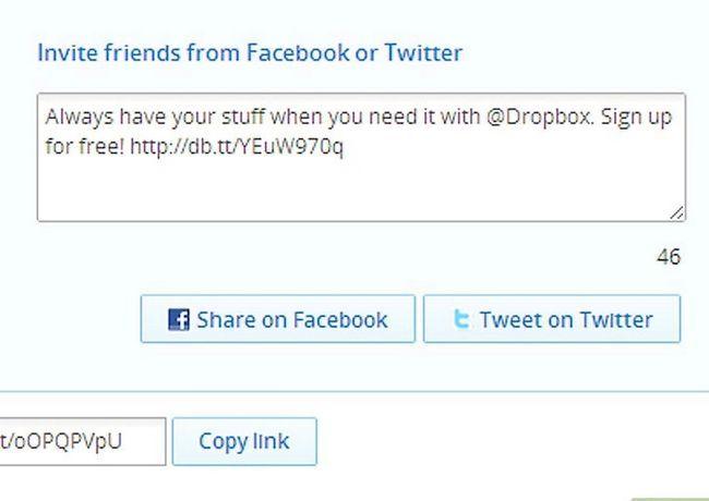 Prent getiteld Kry meer ruimte op Dropbox Stap 5