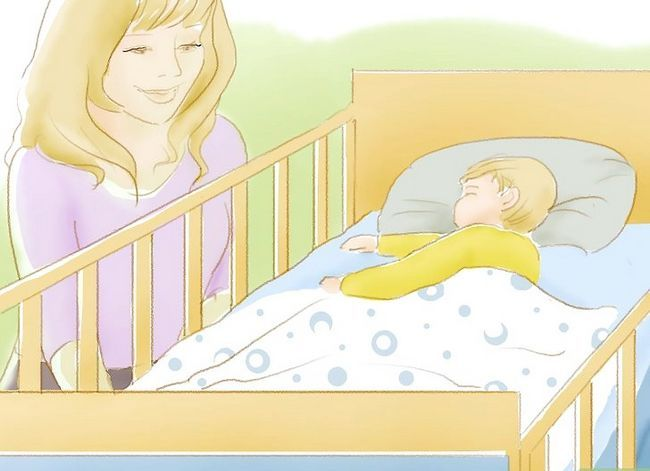 Prent getiteld Kry `n baba om te slaap in `n krip Stap 12