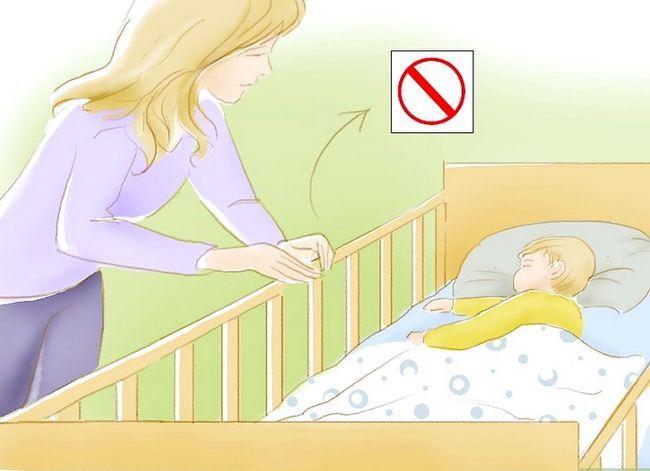 Prent getiteld Kry `n baba om te slaap in `n krip Stap 13