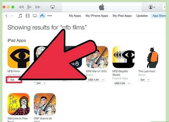 Prent getiteld Kry en kyk gratis flieks op iPad Stap 19