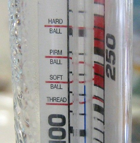 Prent getiteld Candy thermometer detail