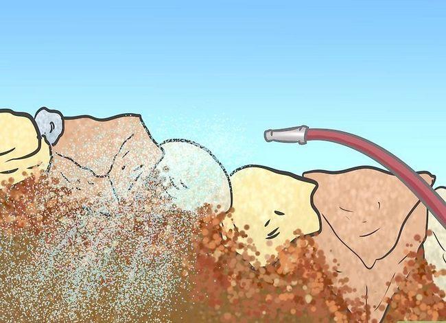 Prent getiteld Bou `n rots met onkruidvoorkoming Stap 9