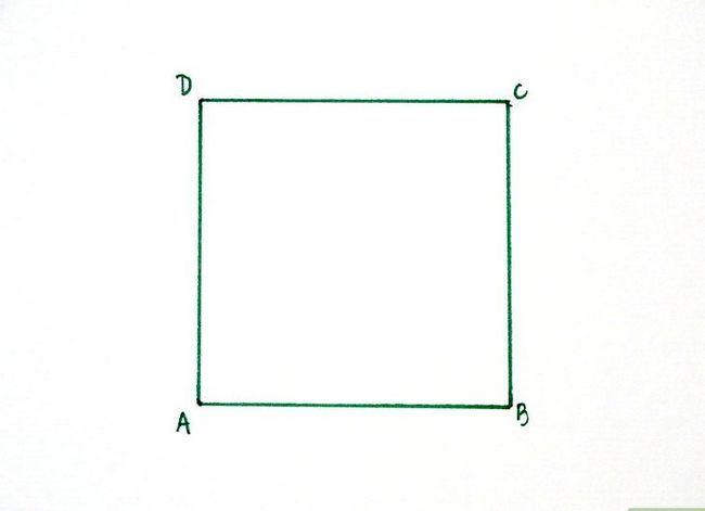 Prent getiteld Konstrueer `n goue rechthoek Stap 1