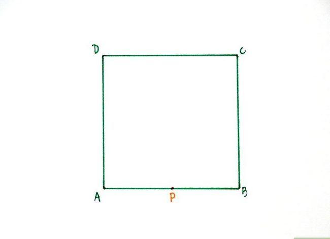 Prent getiteld Konstrueer `n goue rechthoek Stap 2
