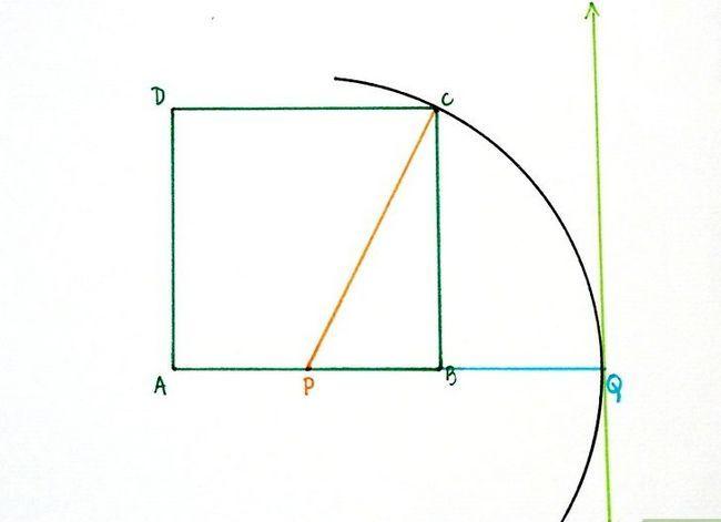 Prent getiteld Konstrueer `n goue rechthoek Stap 6