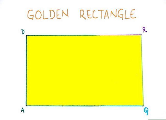 Prent getiteld Konstrueer `n Goue Reghoek Stap 8