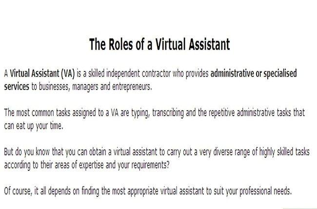 Prent getiteld Huur `n virtuele assistent Stap 1
