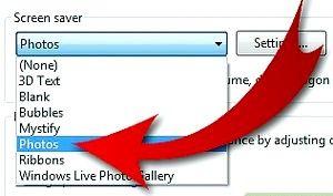 Prent getiteld Draai jou gunsteling foto`s in `n Screensaver (op Windows 7) Stap 5