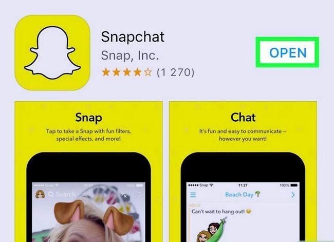 Prent getiteld Word Beste Vriende op Snapchat Stap 1