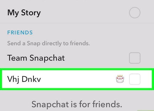 Prent getiteld Word Beste Vriende op Snapchat Stap 4